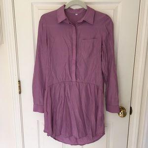 Purple collared dress